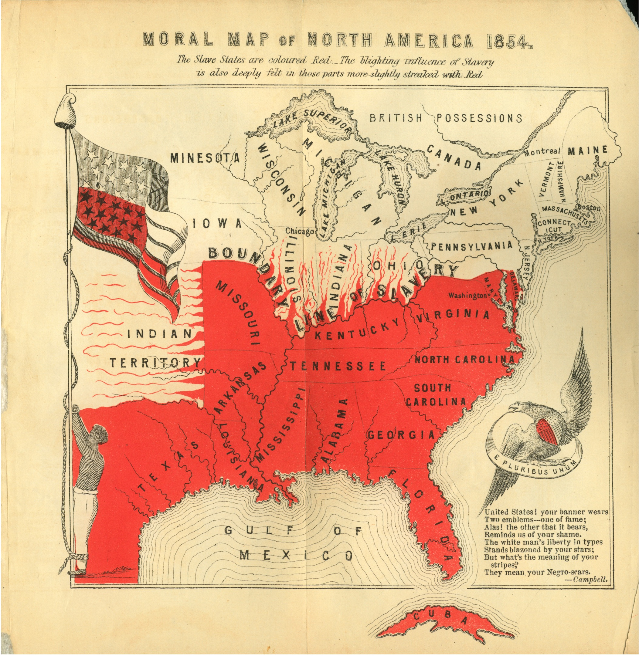 Presentation Name On Emaze  The Sectional Crisis The American - Map of us in 1860 free and slave states